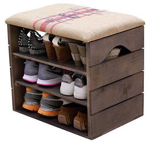17 mejores ideas sobre bancos de almacenamiento de calzado for Bancos zapateros de madera