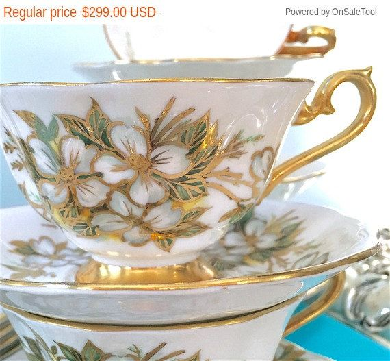 Set 6 tríos de taza de té vintage Albert real, té de despedida de soltera, oro, taza de té, tazas de té Vintage, regalo de boda China, almuerzo