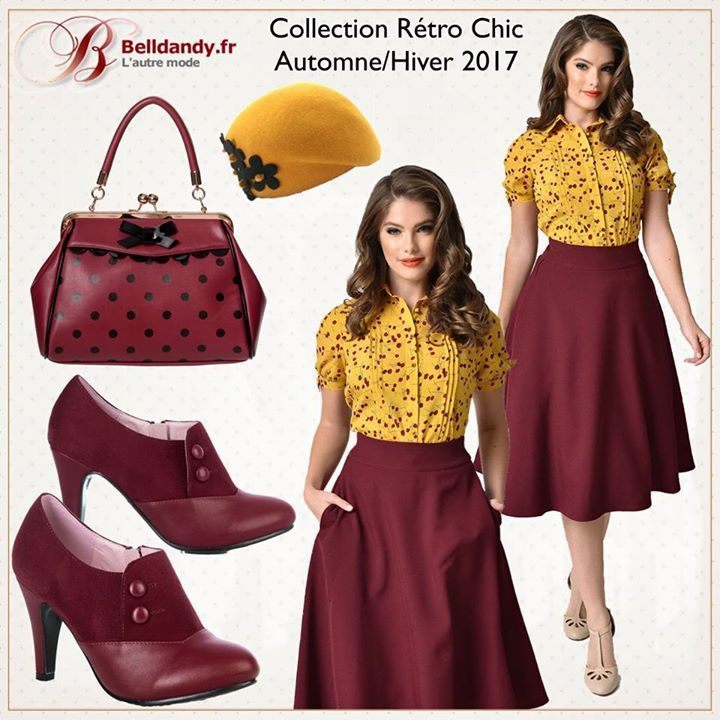 Collection Rétro Chic - Automne / Hiver 2017  https://www.belldandy.fr/  Profitez de -10% sur notre site: www.belldandy.fr avec le code: FACEBOOK  Chemisier Rockabilly Retro Pin-Up 50s Glam Chic Colvin Floral  https://www.belldandy.fr/chemisier-rockabilly-retro-pin-up-50-s-glam-chic-colvin-floral.html  Jupe Rockabilly Retro Pin-Up 40s 50s Glam Chic Swing Vivien  https://www.belldandy.fr/jupe-rockabilly-retro-pin-up-40-s-50-s-glam-chic-swing-vivien-58151.html  Chaussures Bottines Pin-Up…