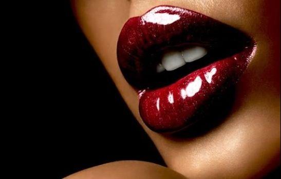 Wine glossy lips