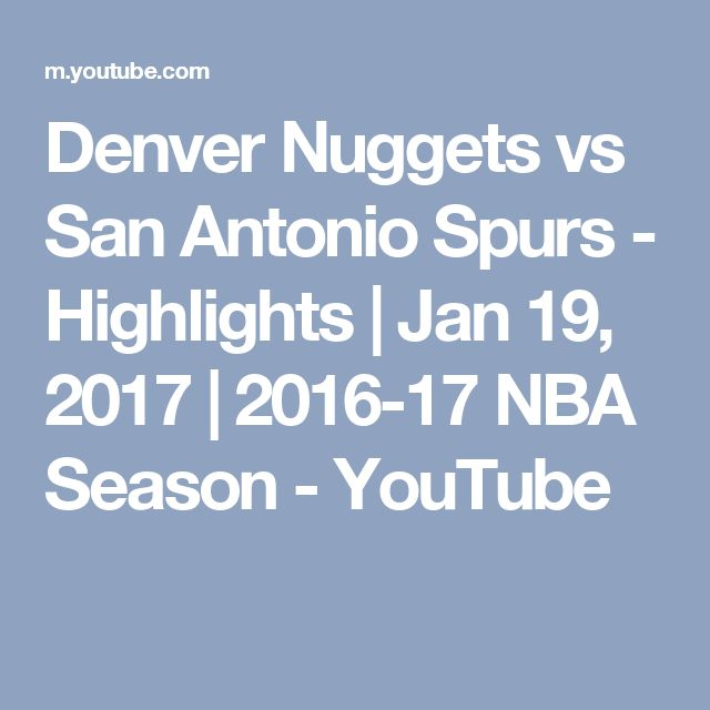 Denver News Nuggets: Denver Nuggets Vs Spurs