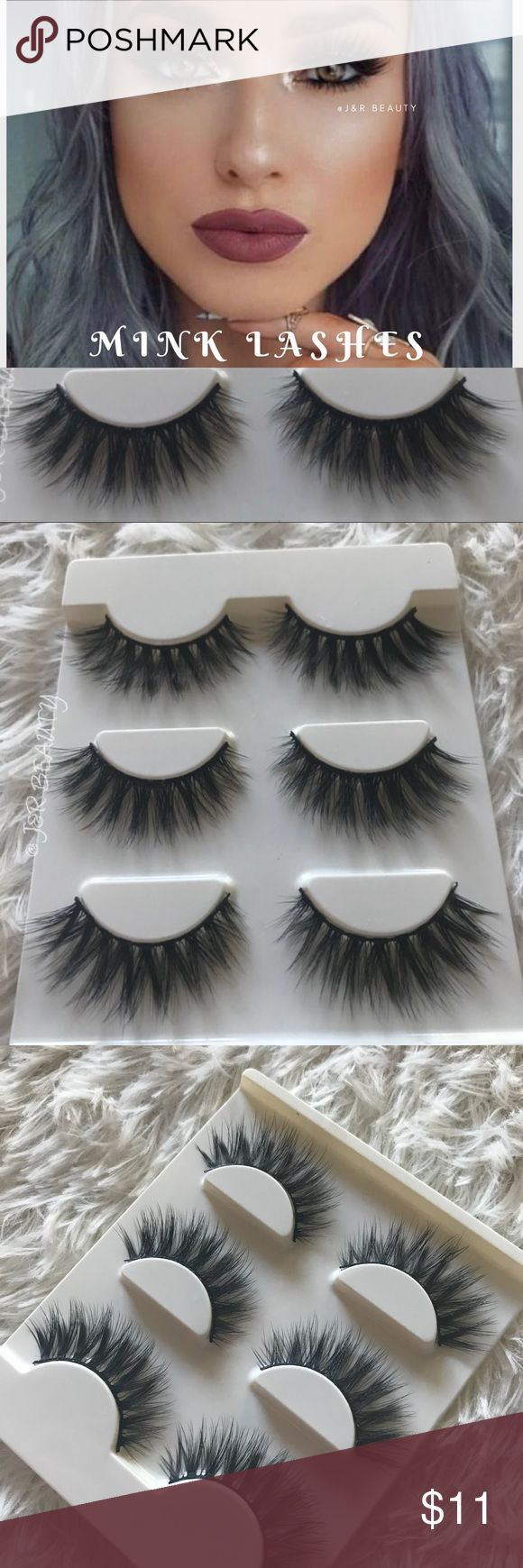 Mink lashes 3 Pairs +$2 Add on eyelash Applicator  +$3 Add on eyelash glue Please message me if you want to add them.   ❌No Offers ✅ Bundle &  Save  # tags Iconic, mink, red cherry eyelashes, house of lashes, doll, kawaii, case, full, natural,  Koko, Ardell, wispies, Demi , makeup, Iconic, mink, red cherry eyelashes, house of lashes, doll, kawaii, case, full, natural,  Koko, Ardell, wispies, Demi , makeup, mascara, eyelash applicator, Mykonos Mink , Lashes , wispy ,eyelash case, mink lashes…