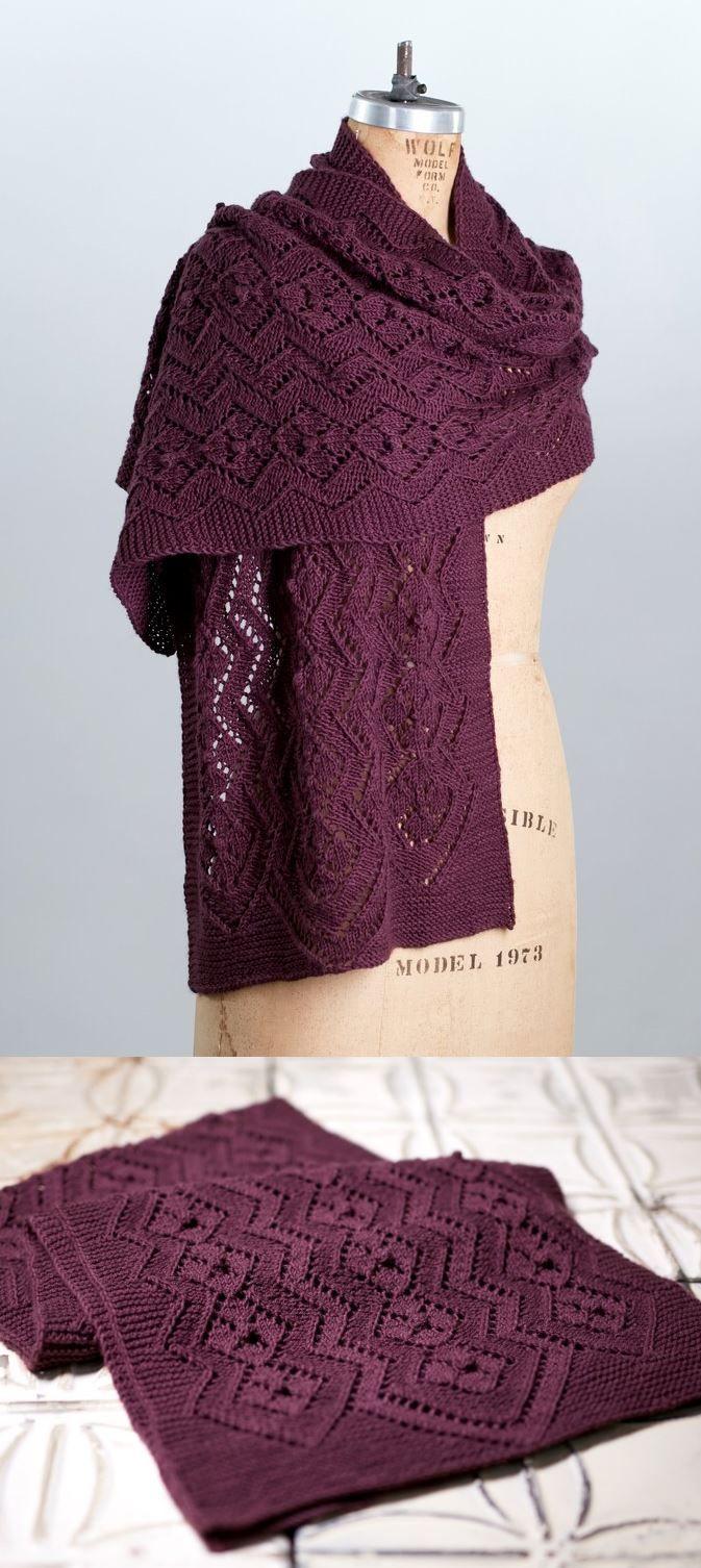 Patrones de tejer de encaje gratis para bufandas