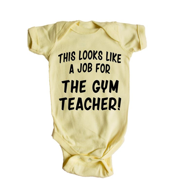 This Looks Like a Job for The Gym Teacher Baby Onesie