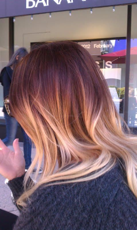 ombre red and blonde!