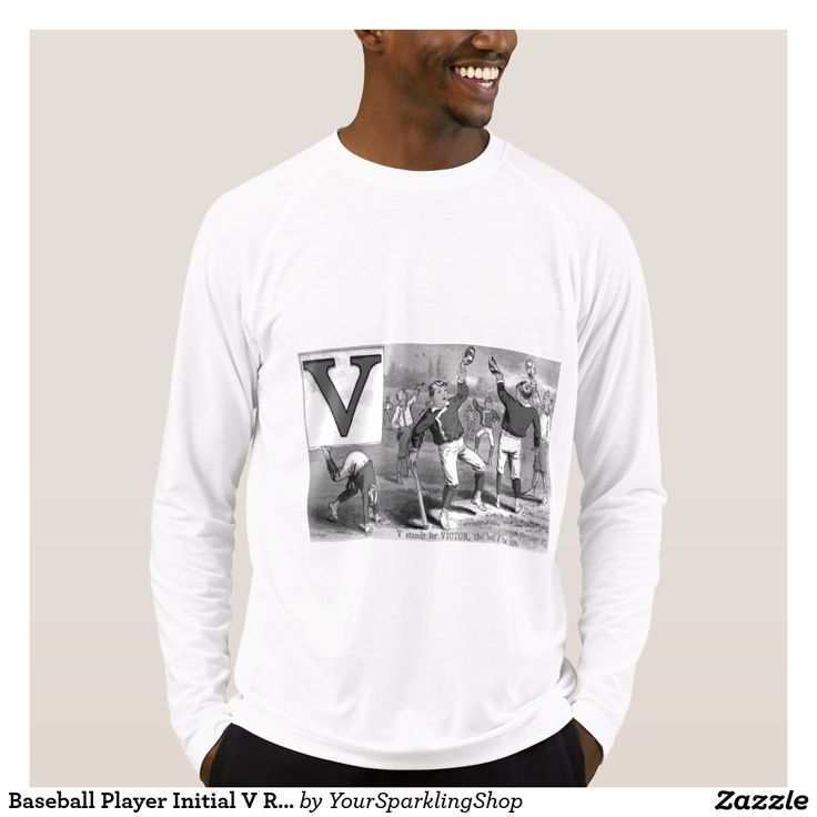 #Baseball Player Initial V Rhyme #Vintage #Victory #Shirt