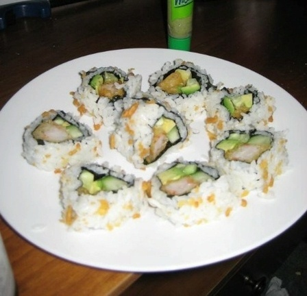 Home Made Sushi Crunch Rolls