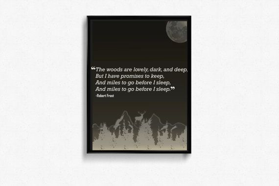 Robert Frost Poem Framed  Free Shipping by Letterstohearts on Etsy
