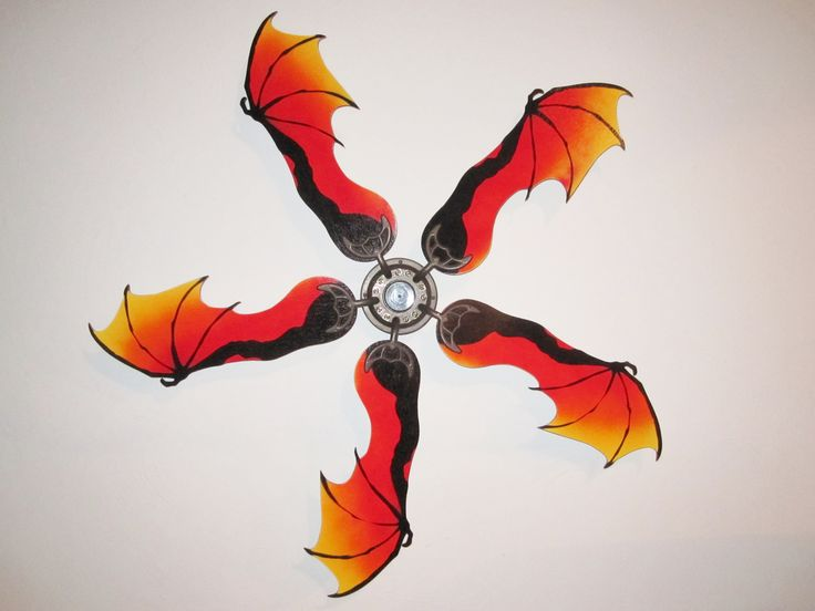 FIRE DRAGON WING SHAPED REPLACEMENT CEILING FAN BLADES