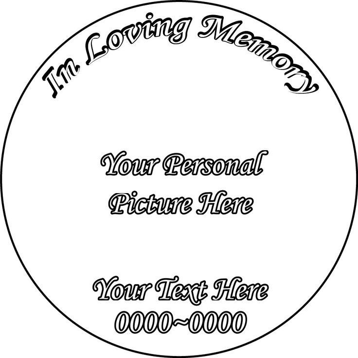 Custom Image In Loving Memory Full Color Circle Shape Custom Vinyl - Custom vinyl wall decals circles