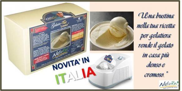 """Fai il gelato in casa con la gelatiera genuino, denso e cremoso con Gelato-TU """"Creme"""" Naturei"""