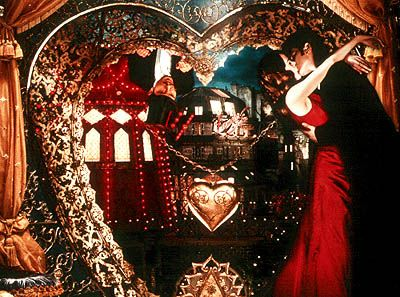 Satine & Christian, aka Nicole Kidman & Ewan McGregor dance at Paris's famous Moulin Rouge