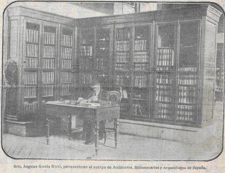 Ángela García Rives, primera bibliotecaria española.  #bibliotecarias #bibliotecas #mujeres