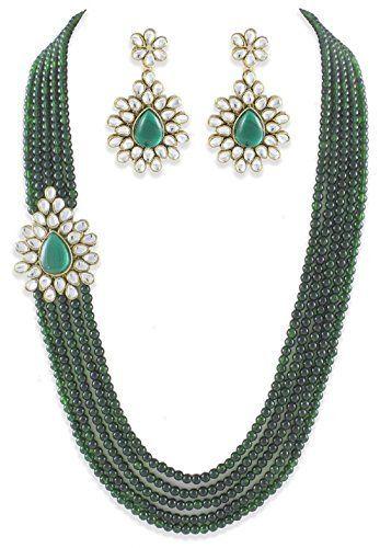 Imitation Diva Dazzling Green Pearls Indian Bollywood Designer Gold Plated Polki Kundan Necklace Set Imitation Diva, http://www.amazon.co.uk/dp/B0736Q9HFL/ref=cm_sw_r_pi_dp_x_YpiCzb87TFNBX