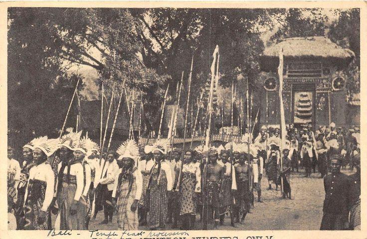 Penari Baris di Pura Dalem Desa Julah, Buleleng | POSTCARD INDONESIA BALI Temple Parade | eBay