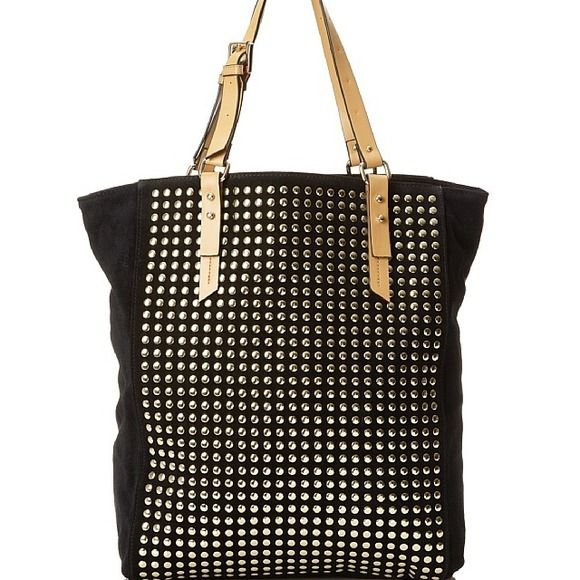 Kelsi Dagger women's cicely large tote Soft, studded and spacious featuring 1zip and 2 slip interior pockets and adjustable leather handles! Kelsi Dagger Bags Totes