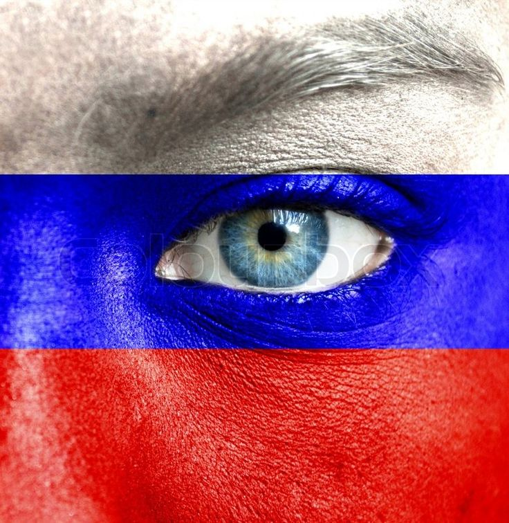 Flag of Russia face -