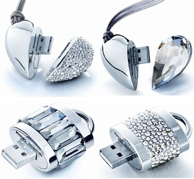 Philips & Swarovski Make Blinged Out Flash Drives ---way too much money! $200, but pretty cool looking.