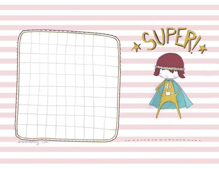 Supergirl corvée graphique // gratuits à imprimer