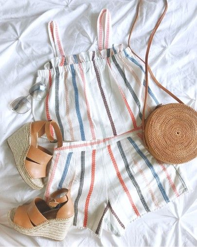 Bought the cutest stripe playsuit last week and can't wait to wear it as soon as it's hot! It's currently included in a huge buy more, save more sale! Enjoy up to 25% off with code GOBIG18! ☀️ Get the product details for this look and others by following me on the @liketoknow.it app! http://liketk.it/2uNF6 #liketkit #LTKsalealert #salealert #stripes #summerfashion #summerstyle #whatiwore #justpurchased •• LINKED some other cute items that are also on sale that would go with this outfit…