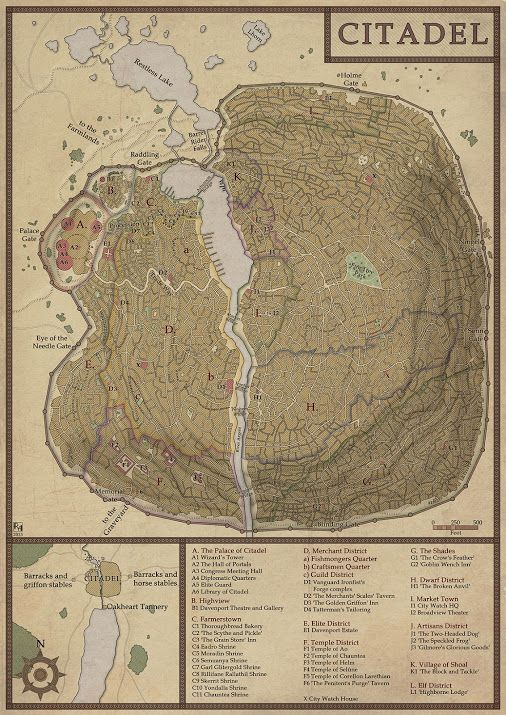 Citadel - A commissioned map. | Maps | Pinterest