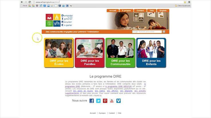 Explorer le site Web de DIRE. Explorez le site Web du programme DIRE à l'aide de cette vidéo!
