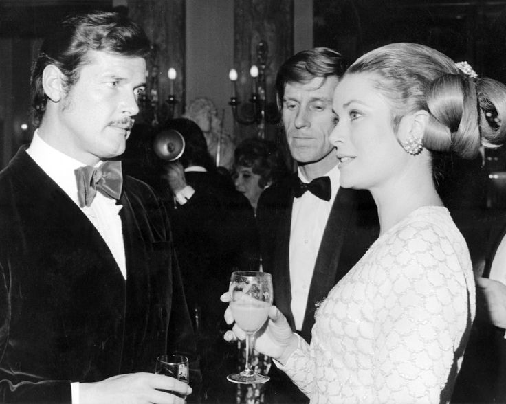 A Velvety Year: 1970. Roger Moore, with Princess Grace and Edward Meeks.