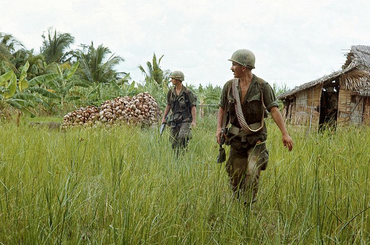 Vietnam War 1969 - American troops operate in swamps and rivers south of Saigon.