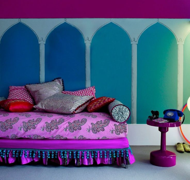 Modern Home Decor Bright Purple Wall Art Boho By: 253 Best Combo Of Blue & Purple Interior/Exterior