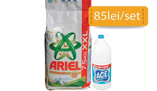 Ariel si Ace sunt parteneri de 5 stele pentru rufe de invidiat