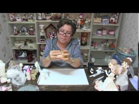 Curso de Modelado en pasta flexible de novios para Pastel Parte 3 HD - YouTube