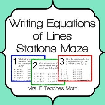 writing the equation of a line Writing the equation of a line we carefully choose writers to employ, paying attention to their skills and abilities.