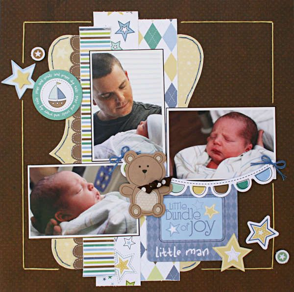 nice baby boy layout, just need to adjust for Maya, all girly :D