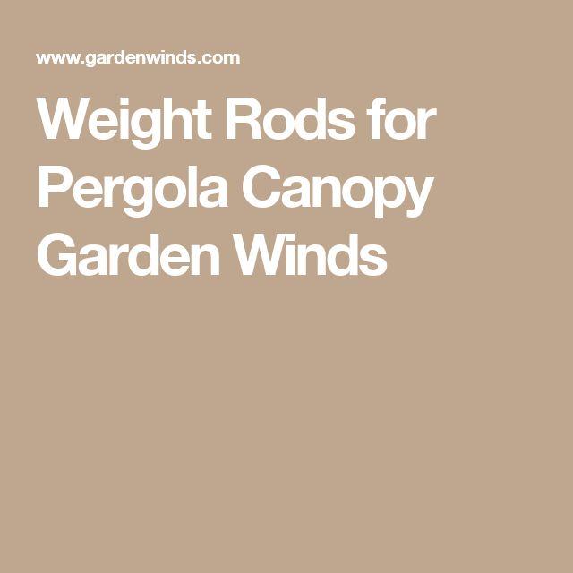 25 Best Ideas About Pergola Canopy On Pinterest