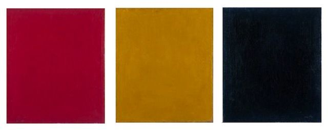 """Pure Red Color, Pure Blue Color, and Pure Yellow Color (1912) intended to once and for all bring death to traditional painting in order to open new doors for artistic expression. It also made a drastic political statement about the ways that art functioned prior to the revolution, giving new socio-political weight to the Constructionist movement. The piece's simplistic, yet poignant aesthetic can be seen as one of the earliest influences on abstract art and minimalism of the 60s and 70s."""