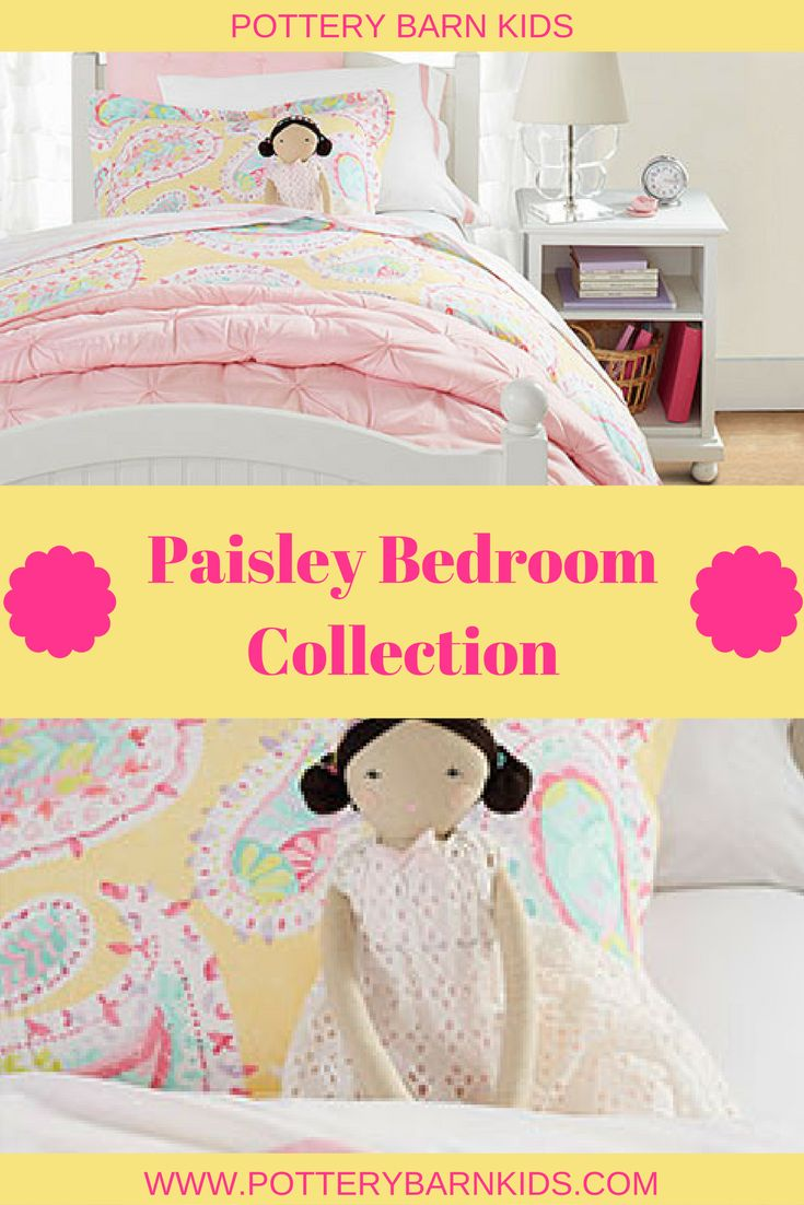 Paisley Bedroom Collection @ Pottery Barn KIds  #potterybarnkids #ad #girlsbedroom #bedroomdecor #paisley