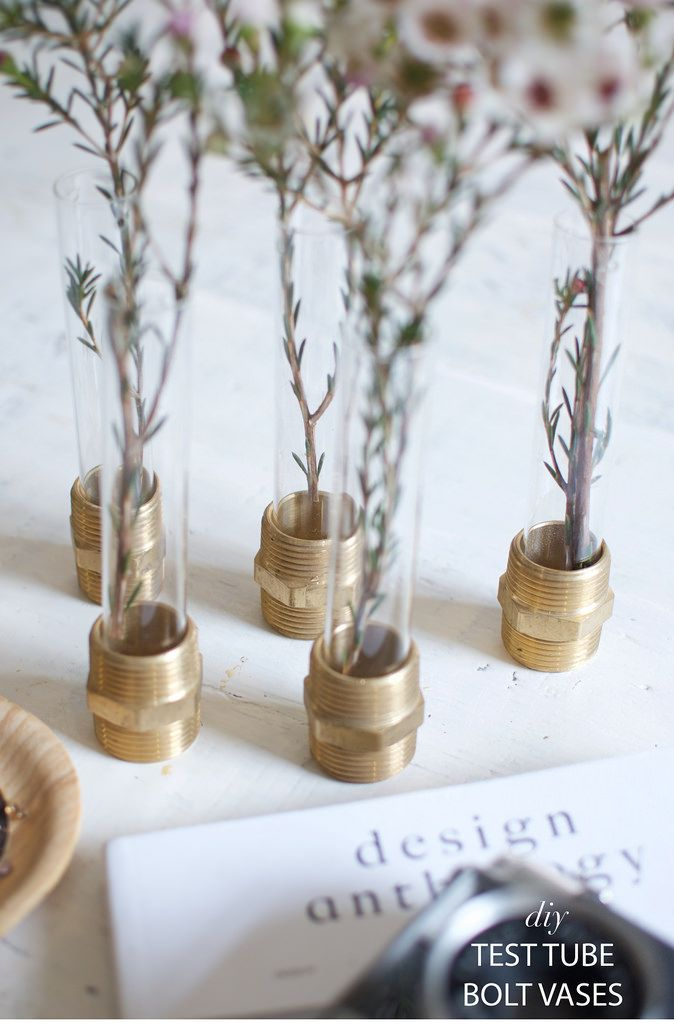DIY Bolt Test Tube Vases