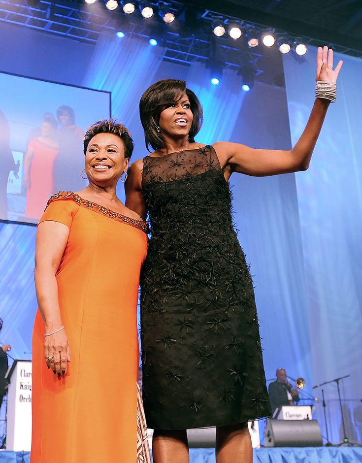 Michelle Obama Little Black Dress--complete with a hundred spiders!