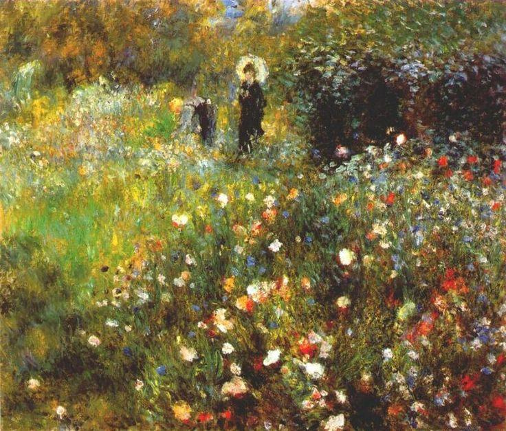 Пьер-Огюст Ренуар. Женщина с зонтиком в саду