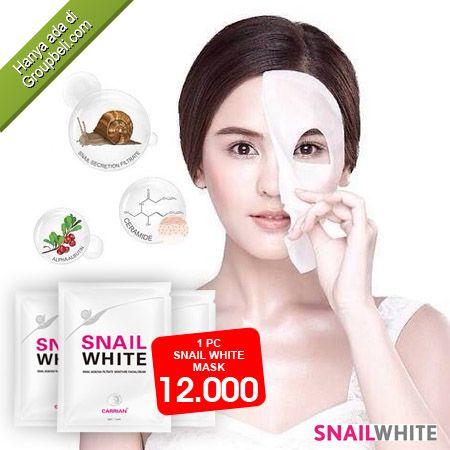 Snail White Mask, masker wajah yang berkualitas untuk mengatasi masalah pada wajah hanya Rp 12.000 http://groupbeli.com/view.php?id=710