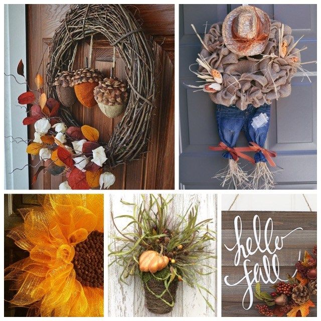 I need 30 doors to be able to hang all of these beautiful fall wreaths!
