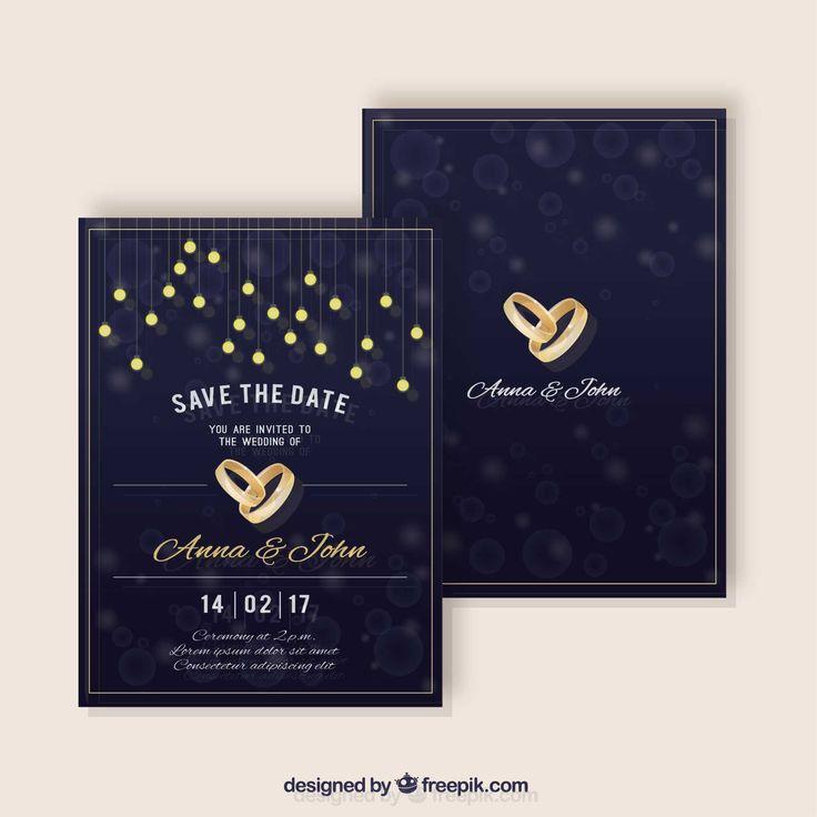 Wedding Invitation Vectors Photos and PSD files