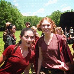 """When Foxface and Clove bonded at the arena. 