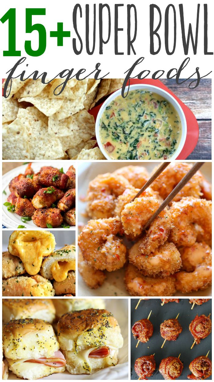 Appetizers and finger foods are the perfect menu choices for a super bowl party. Sliders, dips and anything you can quickly pop into your mouth while cheering for your favorite team will make your super bowl party a success.: