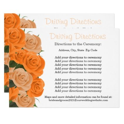 Hotel and Venue Driving Directions Card - wedding invitations diy cyo special idea personalize card
