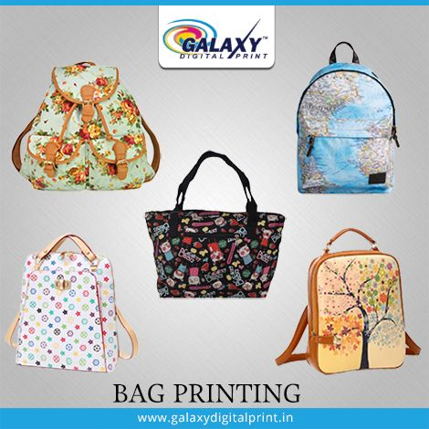 #BeautifulPrintedBags make you look more #Stylish and #Classy when the prints are of your choice. Isn't it?  Enquire us now for further information: 9911312255, 9911212520 or Visit our website: http://galaxydigitalprint.in/