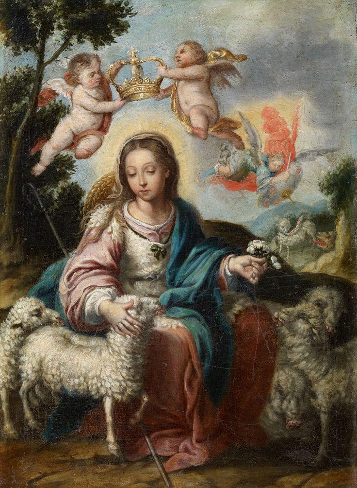 Alonso Miguel De Tovar. Divina Pastora, s.f. Colección Carmen Thyssen-Bornemisza en préstamo gratuito al Museo Carmen Thyssen Málaga