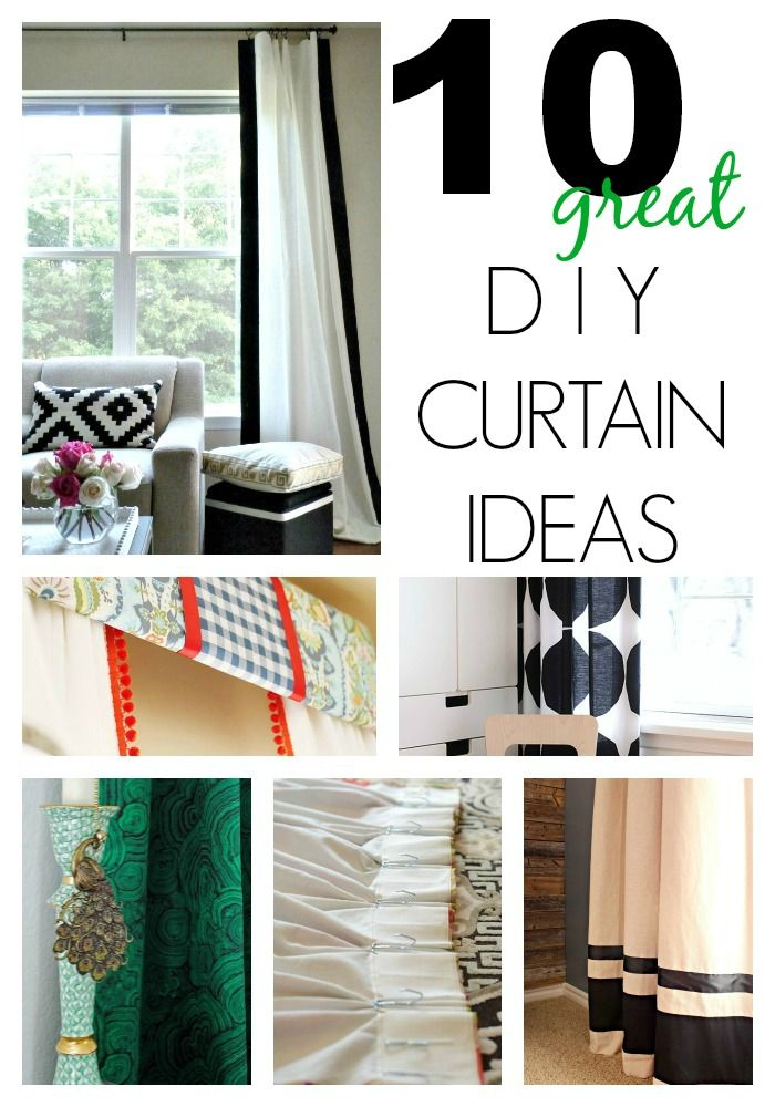 10 Great DIY Curtain Ideas