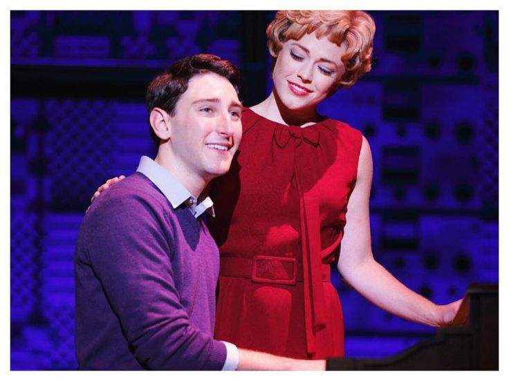 Ben Fankhauser and Erika Olson in Beautiful: the Carole King Musical
