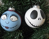 Nightmare before Christmas Jack and Sally Holiday Ornament Set